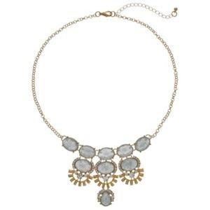 🆕 Mudd® Glittery Oval Cabochon Statement Necklace